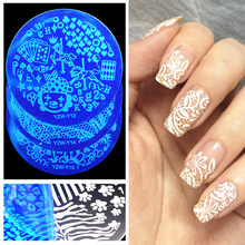 Nieuwe Collectie!! YZW-Y Serie Nail Stempelkommen 20 Stijlen Rvs Nagels Template Image Plate Tool Accessoires(China)