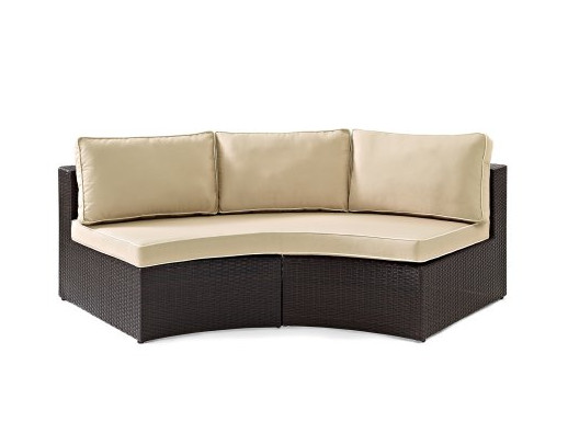 Factory Direct Sale Outdoor Lounge Furniture 6 Piece Wicker Curved