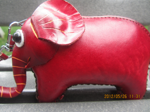 Genuine leather handmade the preparation of lucky ruyi coin purse key wallet first layer of cowhide animal small bag