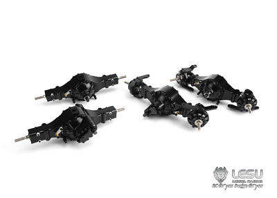 LESU Metal 8*8 Front Rear Axles Differential Lock RC 1/14 Tractor Truck Tamiya lesu metal axles b differential locks 1 14 rc 6x6 tractor truck tamiya model