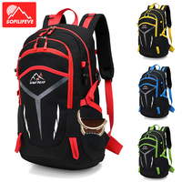 Men Mountaineering Backpack Outdoor Tourist Big Travel Bag Color Stitching Luggage Bags Sports Climbing Hiking Camping Rucksack