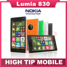 """100% d'origine Nokia Lumia 830 téléphone Mobile 1 G RAM 16 G ROM remis à neuf Quad core 10MP caméra 5 """" écran GPS WIFI téléphone"""