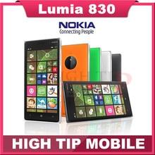 "100% original Nokia Lumia 830 Mobile phone 1G RAM 16G ROM Refurbished Quad core 10MP Camera 5"" screen GPS WIFI brand phone"