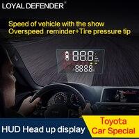 ЛОЯЛЬНЫЕ защитник автомобилей HUD Head Up Дисплей Overspeed Предупреждение Системы Напряжение сигнализации OBD2 для автомобиля Toyota лобовое стекло пр