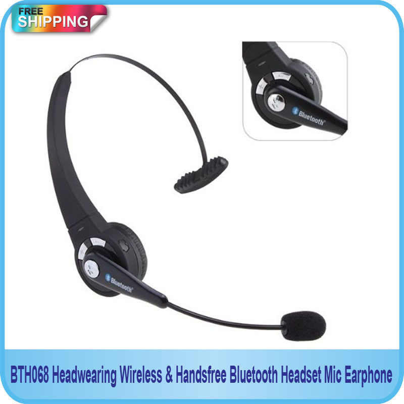 Free Shipping!!Handsfree Bluetooth Headset Mic Earphone/Headwearing Wireless/Wireless headphones ear earphone image
