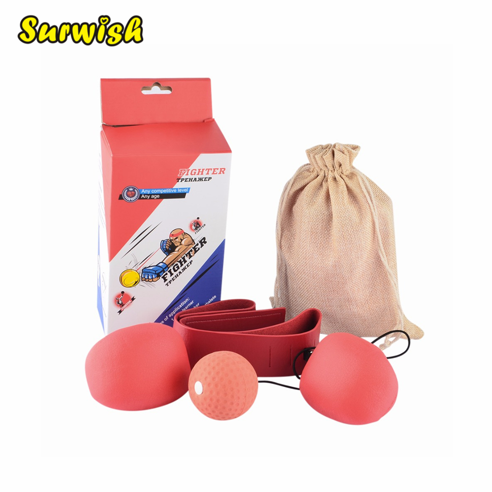 Adult Boxing Speed Ball Set Reactivity Awareness Training Punching Speed Ball for Fighting Free Combat - Random Color борцовки adidas combat speed 5 серо желтые ba8006