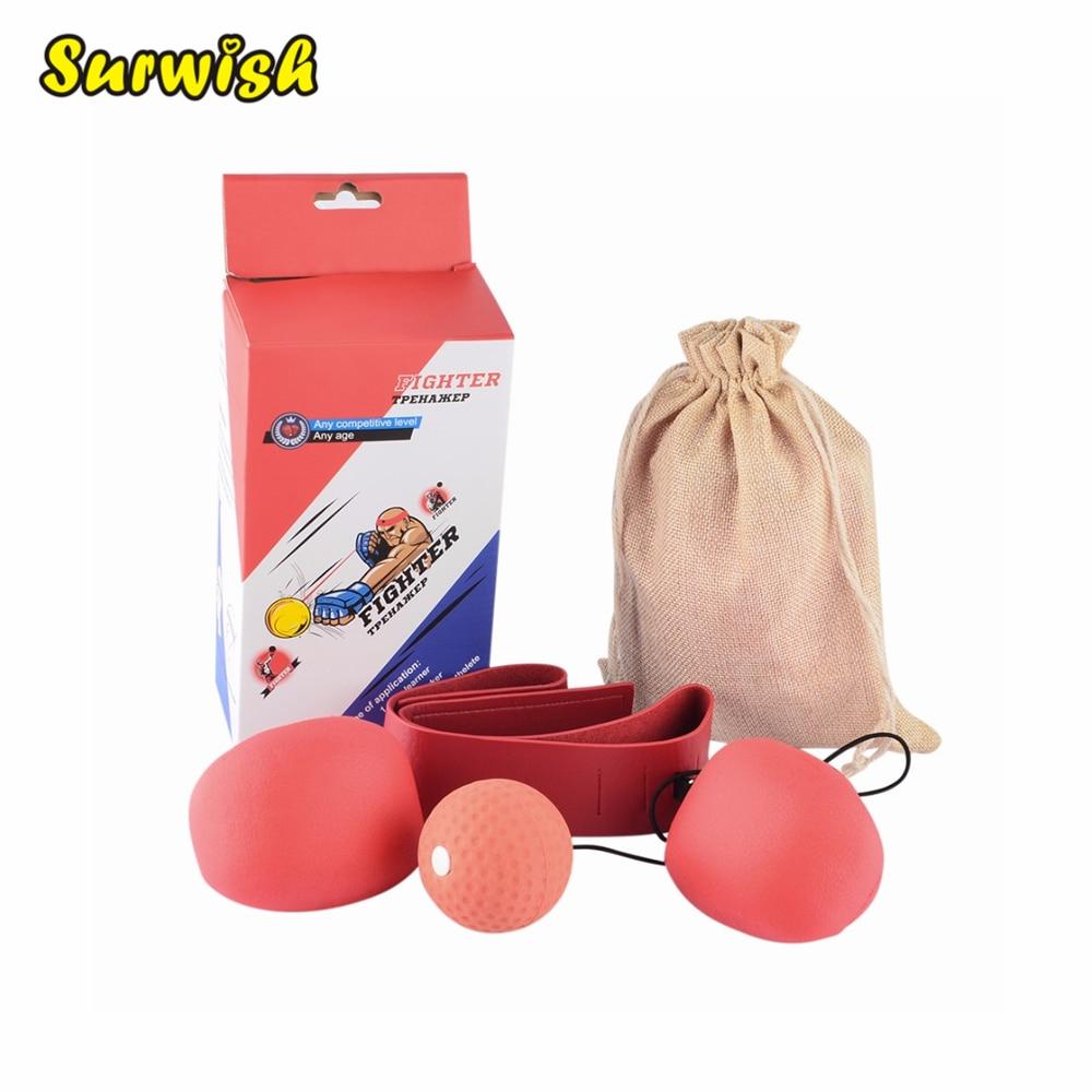 Adult Boxing Speed Ball Set Reactivity Awareness Training Punching Speed Ball For Fighting Free Combat Random
