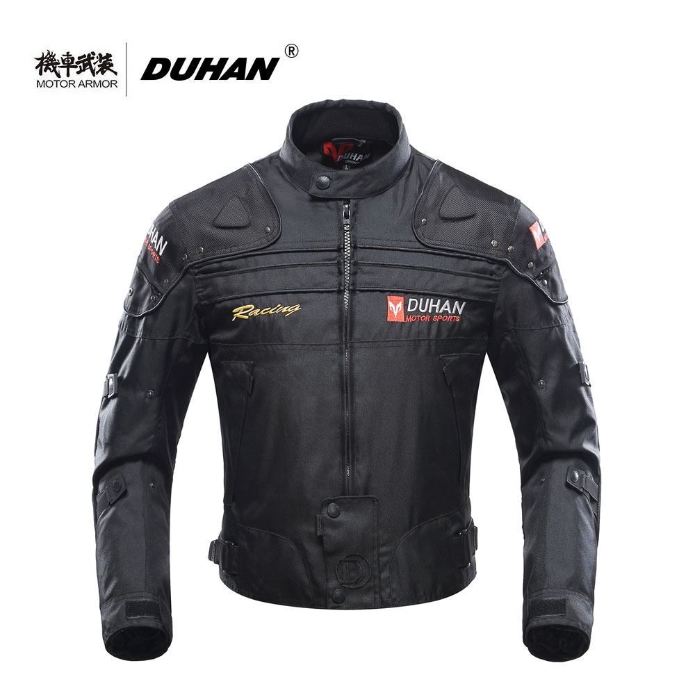 Moto DUHAN Motorcycle Mens Riding Windproof Jacket Clothing Motocross OffRoad Racing Protection Coat Winter Winter CE