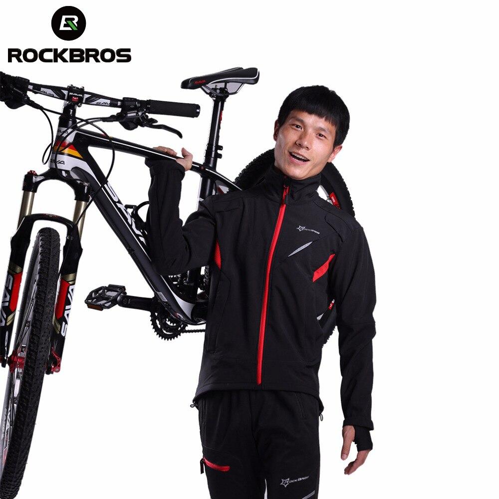 ROCKBROS Велоспортная зимняя спортивная куртка флисовая Термальность теплые ветрозащитные для верховой езды Велосипедные трикотажные Водоне...