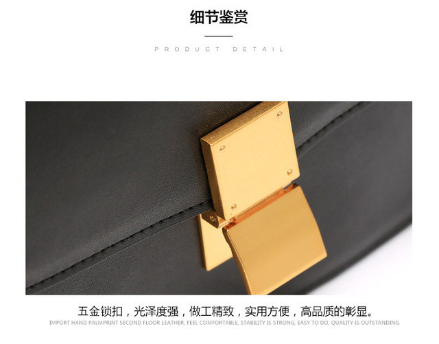 Leather Women Bag Flap Box Shoulder Bag Women's Handbags Crossbody Bag bolsa feminina Luxury Desinger Leather Cow Hide Quality