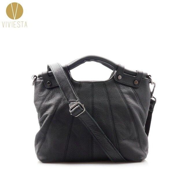 FULL GRAIN GENUINE LEATHER TOP HANDLE BAG - Women s Ladies  High Quality  Casual Medium Size 0d0fceacc1