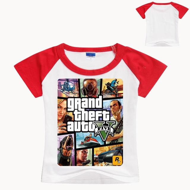 483ef2186883f 2-12 ans t-shirt drôle Gta 5 enfants vêtements bébé Fille chemise Garcon