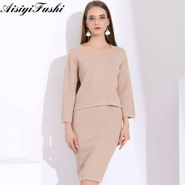 Knitted Tracksuit Ladies Knitted Suits For Women 2 Piece Sets Womens