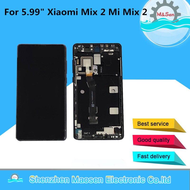 "5.99"" Original M&Sen For Xiaomi Mi Mix 2 mix2 Lcd Screen Display+Touch Panel Digitizer Frame For Xiaomi Mi Mix Evo ROM-6GB lcd"