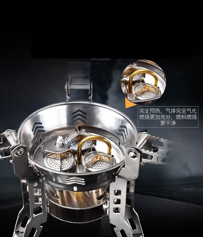 Bulin BL100 B16 3800 W Split cuisinière à gaz Portable randonnée pique-nique cuisinière pliable Split cuisinière à gaz en plein air barbecue équipement de Camping - 4