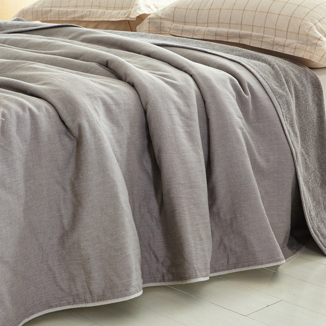 Low-key Luxury 100% Cotton Blankets Single Double Towel Blanket Air  Conditioning Cobertor Nap 642aa44b6