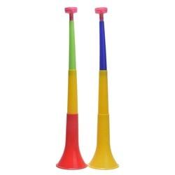 Случайный цвет Европейский Кубок Музыкальные инструменты съемный футбольный стадион развеселить Рога Vuvuzela рожок для чирлидинга ребенок Т...