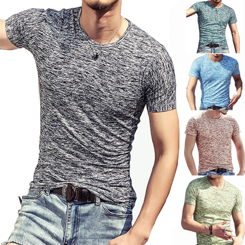 brand quality 6 color solid   t     shirt   2019 new men cotton O-neck clothing base fit casual men   t  -  shirts   plus size M-3XL