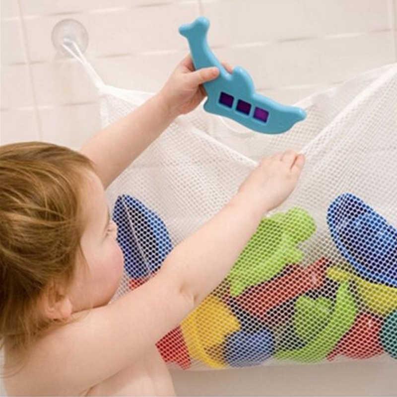 Saco de brinquedos Dos Miúdos Cesta Para Brinquedos Animal Dos Desenhos Animados Molda Líquido À Prova D' Água Areia da Praia Brinquedos Banheiro Bebê Malha Saco De Armazenamento de Pano para o Banho