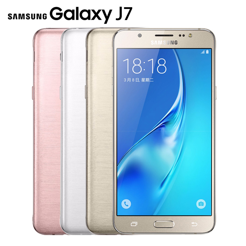 Original Samsung Galaxy J7 J7108 2016 4G LTE Mobile phone Octa Core 5 5 13 0MP