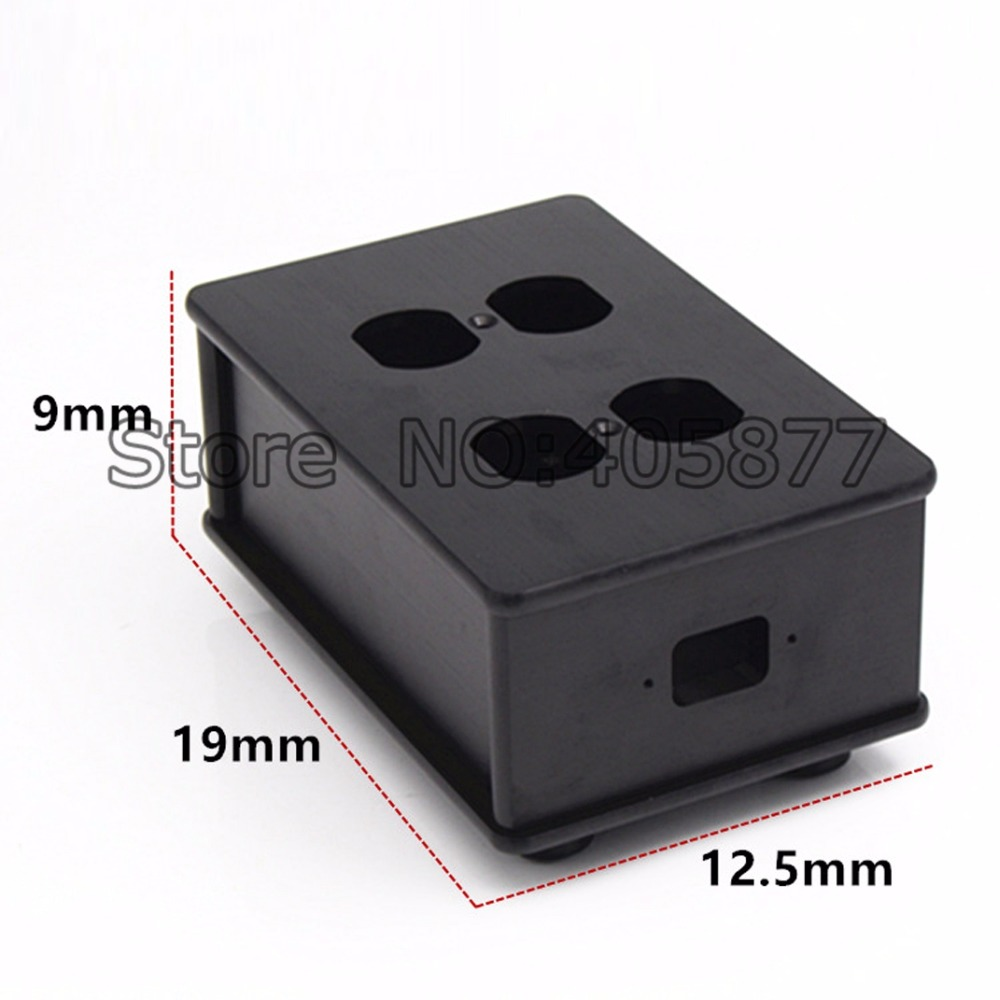 HIFI US AC Power Strip Bar Distributor Aluminum 4 Outlet Box HIFI Chassis free shipping one pieces black aluminum us ac power distributor 8 outlet power supply box chassis case