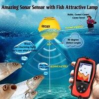 Lucky FF1108 LA Wireless Portable Fish Finder Sonar Sensor 45M 135FT 125KHz Frequency Echo Sounder Fishfinder