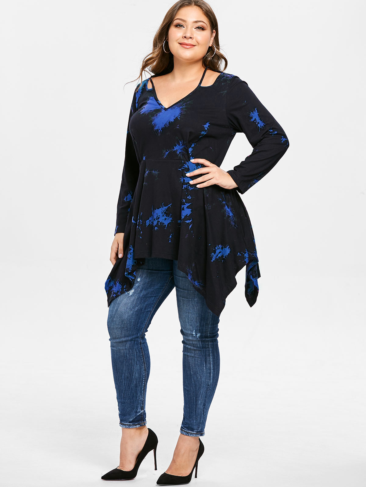 Shirt Length Long Sleeve Length Full Collar V-Neck Style Fashion  Season Spring a4fdba6d056e