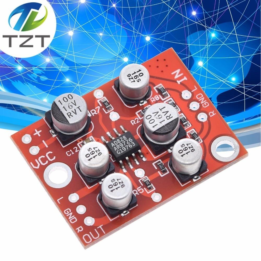 Стерео Динамический микрофон AD828, 3,8-15 В постоянного тока, предусилитель, плата предусилитель микрофона, плата модуля усилителя