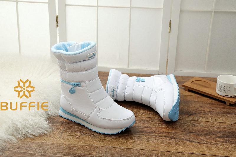 белые зимние ботинки женская мода зимние сапоги новый стиль 2017 женская обувь брендовая обувь высокого качества быстрая бесплатная доставка girlw сапоги