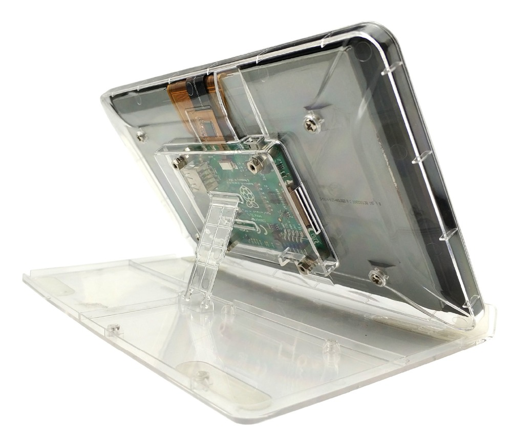 Image 2 - 7 Inch Touch Screen Display Transparent ABS Case for Raspberry Pi With Adjustment Stand Protective Shell-in Coat Racks from Furniture