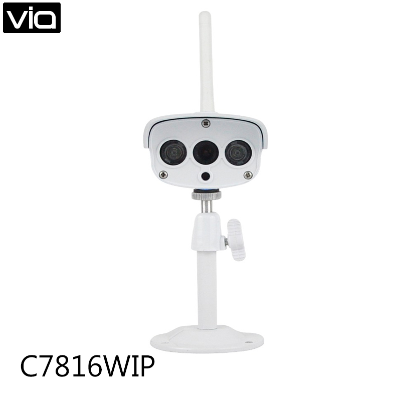 VStarcam C7816WIP Free Shipping HD 720P 1MP WIFI Waterproof Outdoor Infrared Bullet IP Camera Support TF Card Night Vision free shipping p2p 720p 1mp hd plug