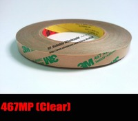 1x 24mm 55M 0 06mm 2 3mils Thickness 3M 467 MP 200MP Adhesive Double Sided Clear
