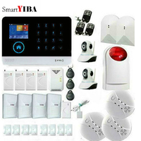 SmartYIBA Wireless House Home Wifi 3G Security Alarm system WCDMA Burglar alarm Video IP Camera PET PIR Gas Smoke Fire Sensor