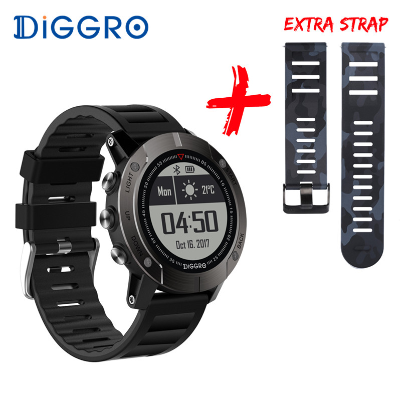 Diggro DI08 GPS Smart Watch Fitness Tracker IP68 Waterproof Notification Outdoor Sport Heart Rate Monitor For Android IOS no 1 d5 bluetooth smart watch phone android 4 4 smartwatch waterproof heart rate mtk6572 1 3 inch gps 4g 512m wristwatch for ios