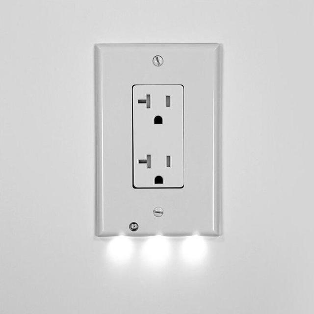 Plug cover led night angel wall outlet face hallway night light plug cover led night angel wall outlet face hallway night light sensor mozeypictures Choice Image