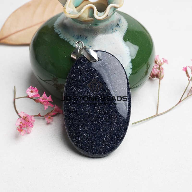 Frete Grátis Azul Areia Pedra Pingente Atacado 5 pçs/lote Nova Moda Encantos De Pedra Natural