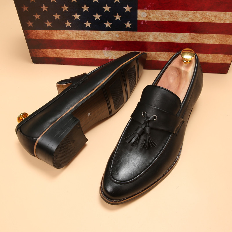 luxury brand mens pointed toe dress shoes famous loafer male gents formal wear ballet flats zapatos hombre oxford shoes for men  (15)
