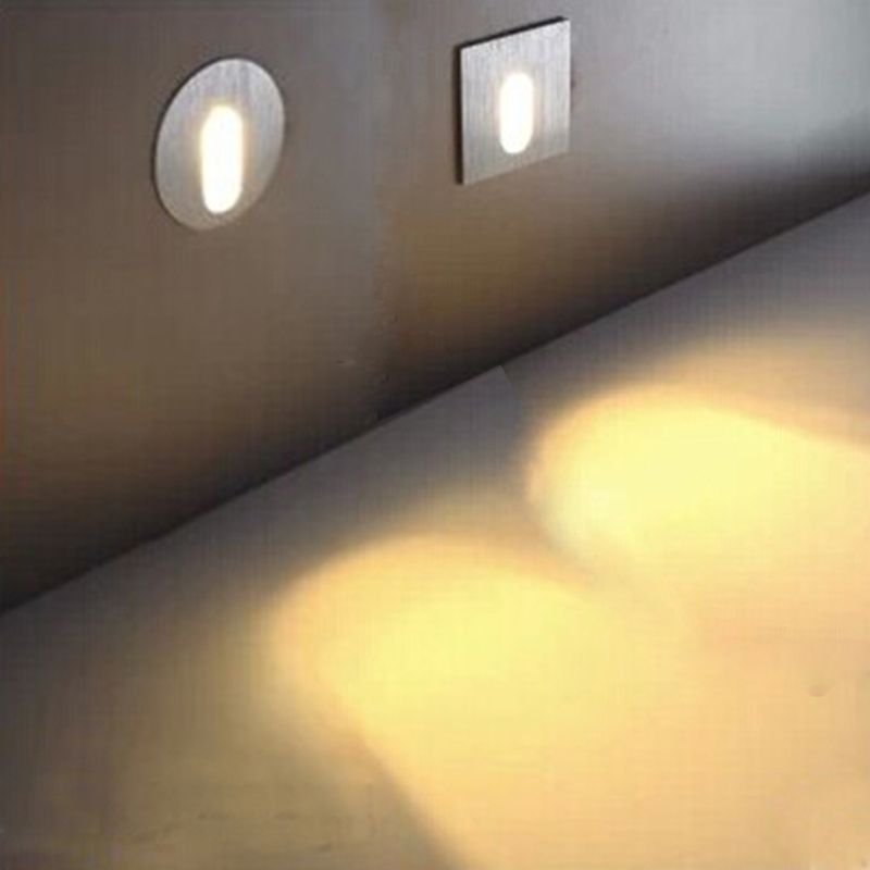 Aluminum Led wall lights/Sconce 3W Recessed In installation 8cm. Led ...
