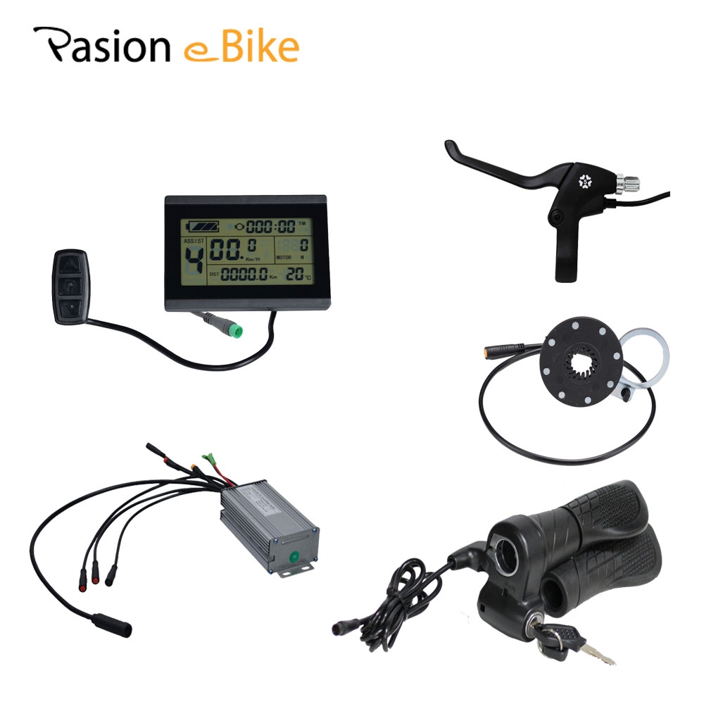 PASION E BIKE 48V 1500W 500W 350W Waterproof Connector 20A 25A 35A Electric Bicycle Components Set LCD Panel Throttle Brake pasion e bike 28 road bike utility bicycle electric conversion kit 48v 1500w rear wheel motor 7 speed freewheel sensor brake