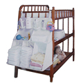 Nursery bebé grande cuna cama de pañales ropa colgada Multi Funtion de Nylon del bolso del almacenaje del organizador del caso