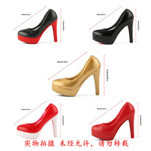 1/6 new BALCK RED shoes female girl woman high-heeled leather shoes empty inside for 12