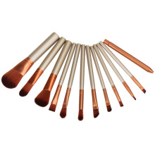 12pcs Professional Golden Cosmetic Makeup Brushes Set Eyeshadow Brush Large Medium Small Dize Eyebrow Brush Lip Blush Blush