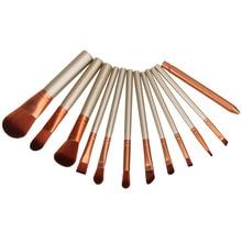 12pcs Professional Golden Cosmetic Makeup Brushes Set Eyeshadow Brush Large Medium Small Dize Eyebrow Brush Lip Blush Blush