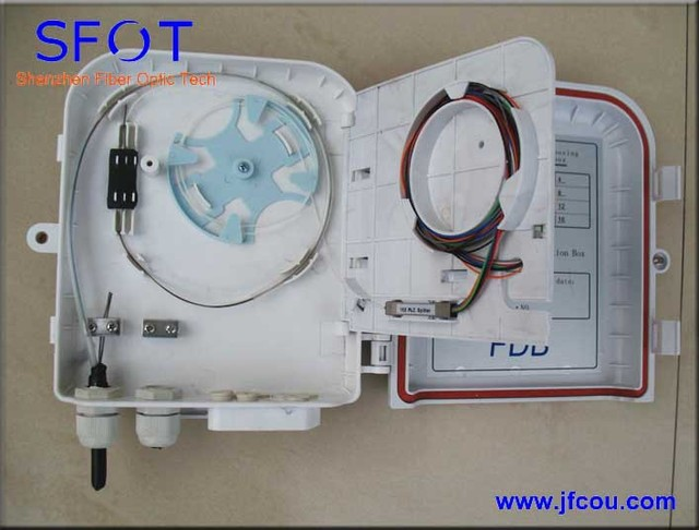 1*8 PLC Splitter Box  FTTH  Fiber optical termination box(easy installation, small housing)