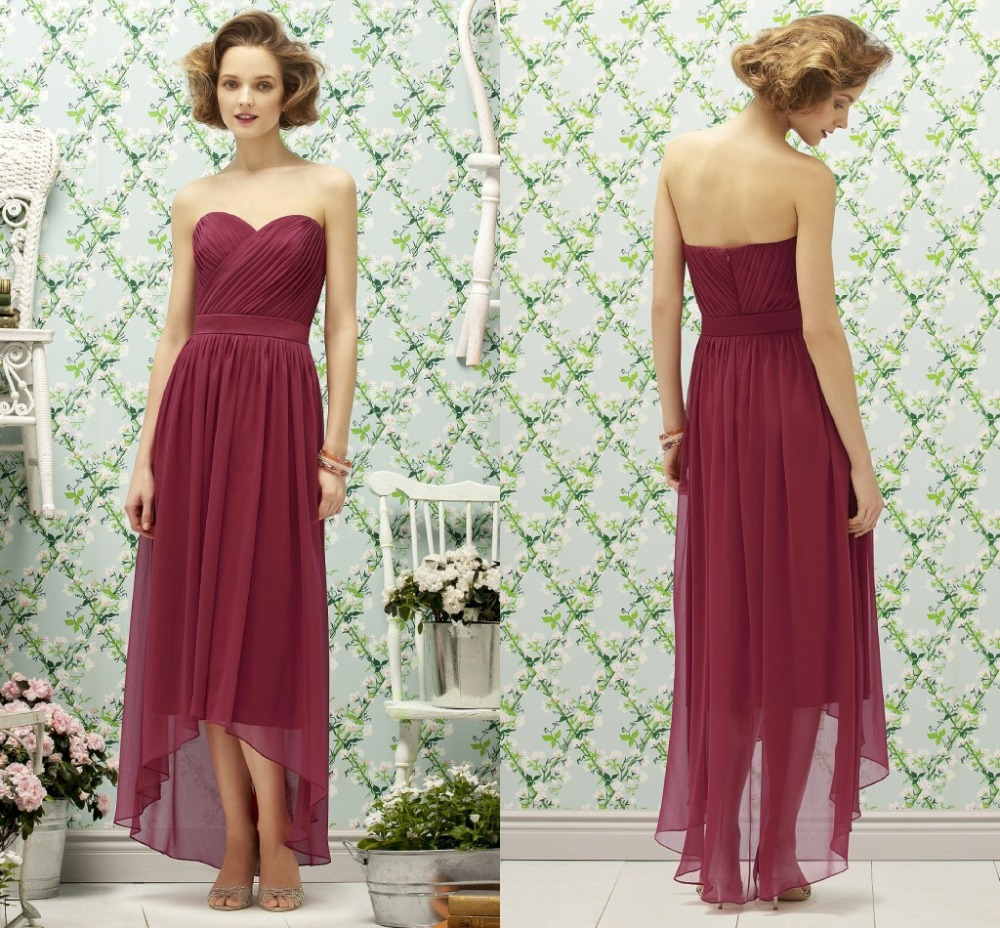 Online get cheap red high low bridesmaid dress aliexpress rose red off the shoulder maid of honor dress for weddings 2015 long chiffon bridesmaid dresses high lowbd 118 ombrellifo Image collections