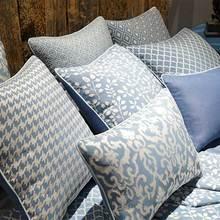 Традиционная китайская синяя Геометрическая Подушка/almofadas Чехол 45 50 60, чехол на заднюю часть сиденья, Восточный декоративный Чехол на подушку