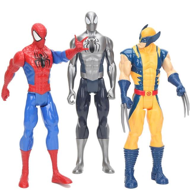 Figura Super-heróis Capitão América Wolverine Spiderman Hulk Homem De Ferro thor Thanos Brinquedo pvc