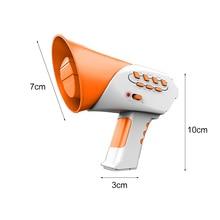 10 X 3 X 7cm Funny Mini Horn Voice Change Gifts 7 Voices 5 Music Voice Changer Education