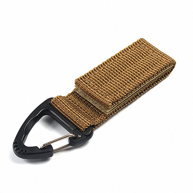 Hot Sale New High Strength Nylon Hanging Chain Backpack Key Hook Outdoor military Webbing Buckle Hook Molle Webbing Belt Clip