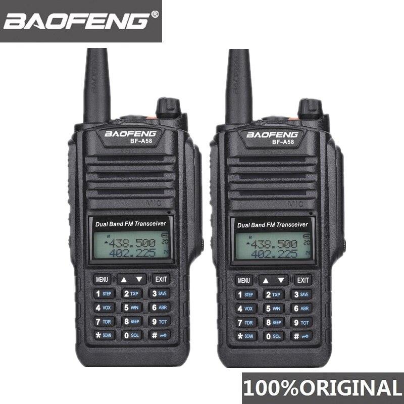 2pcs Original Baofeng IP67 BF A58 Marine Waterproof Walkie Talkie Dual Band Woki Toki Two Way Radio Amador UV 9R Hf Transceiver-in Walkie Talkie from Cellphones & Telecommunications